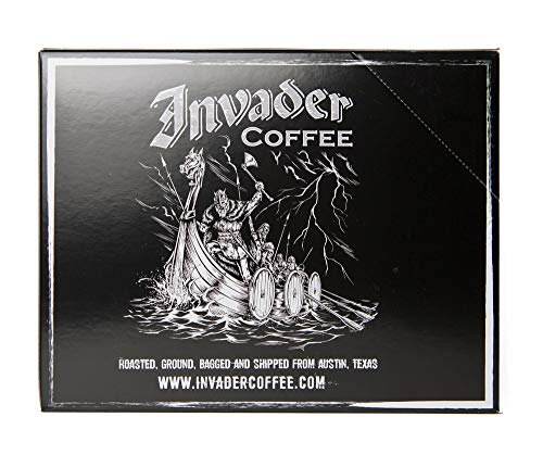 Invader Coffee Classic Blend Single Serve Cups - Air Roasted Low Acidity Ground Coffee - 24 Count
