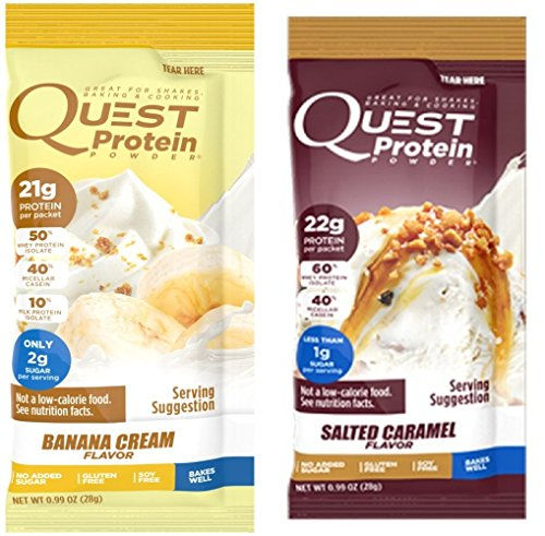 Quest Nutrition Quest Protein gMiTgo Powder, Banana Cream/Salted Caramel 24 Count (12 of Each) by Quest Nutrition