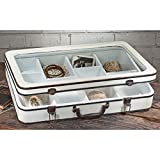StealStreet SS-Tri-16492 Wooden Suitcase with Glass Top Display