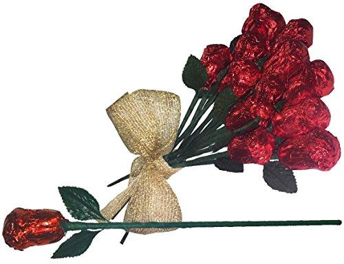 Dozen Chocolate Roses (Shakespeare's Milk Chocolate Roses)