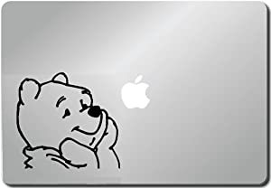 Pooh Looking Up- Computer Skin Apple Sticker Laptop Sticker Macbook Decal Computer Sticker Macbook 13 Inch Vinyl Decal Sticker Skin Cover Computer Sticker Computer Decal Decal Mac Decal for Mac Laptop Sticker Laptop Decal Newest Version Macbook Pro Laptop Quotes