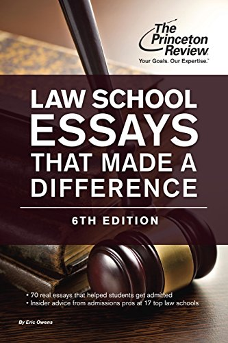 The Princeton Review Law School Essays That Made a Difference (6th 2015) [Owens & Princeton Review]