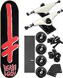 Deathwish Skateboards Gang Logo Skateboard 8'' x 31.5'' Complete Skateboard - Bundle of 7 items
