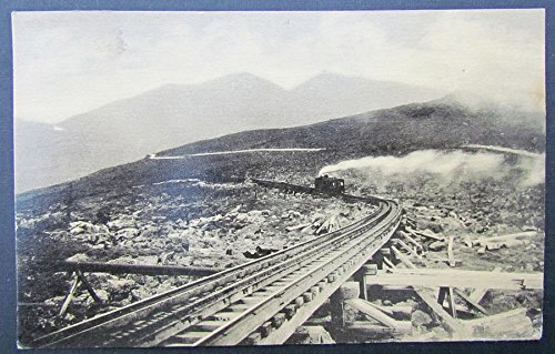 VINTAGE 1936 POSTCARD - COG WHEEL RAILWAY of MT.WASHINGTON NH railroad (Cog Wheel Train)