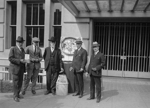 (Historic Photos 1923 photo Legion tin foil group Vintage Black & White Photograph)