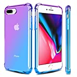 Airror Phone Case Compatible with iPhone 8 Plus/iPhone 7 Plus, Clear Multi-Color Gradients