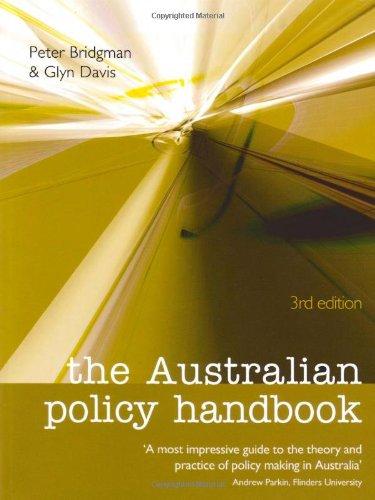 the australian policy handbook 感想 glyn davis peter bridgman 読書