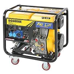 Pro-Lift-Werkzeuge Stromerzeuger 5500W Elektro-Starter 4-Takt-Diesel-Motor Generator 230V Notstromaggragat 5,5kW…