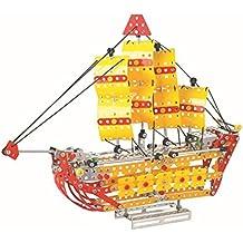 Lightahead Assembly Metal Sailing Ship Model Kits Toy Boat to Assemble. Puzzles Set for Kids, 455 pcs metal blocks