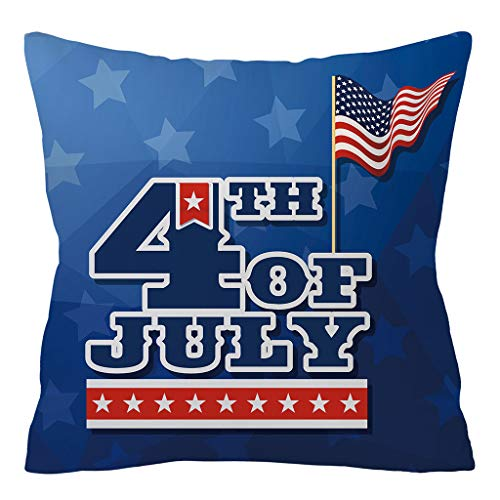 Pathside American Flag Pillow Covers Polyester America Flag