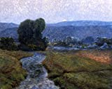 Art Oyster Christian Walker Moonlight on The Catskills - 20.1'' x 25.1'' 100% Hand Painted Oil Painting Reproduction