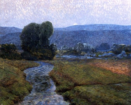 Art Oyster Christian Walker Moonlight on The Catskills - 20.1'' x 25.1'' 100% Hand Painted Oil Painting Reproduction by Art Oyster