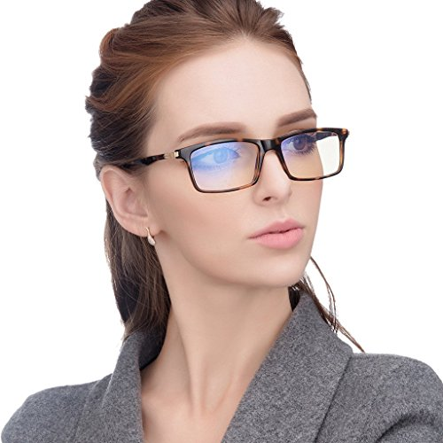 Jimmy Orange Anti Glare Tinted Womens Blue Light Blocking Mens Computer Glasses Eye Strain Readers Clear With Slight Magnification Anti Reflective jo7600G - Sunglasses Blue Cartier