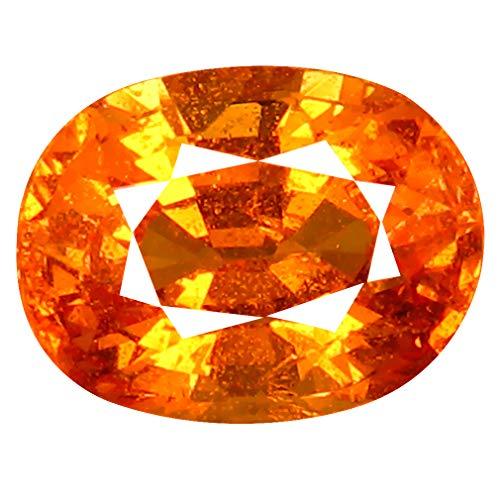 1.80 ct AAA+ Oval Shape (8 x 6 mm) Unheated/Untreated Fanta Orange Tanzanian Spessartine Garnet Natural Loose Gemstone
