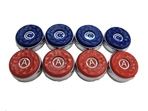 "8 American Shuffleboard Pucks - 2-1/8"""