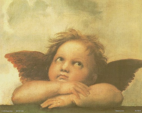 - Raphael Little Angel Wall Decor Cherub of Sistine Madonna Picture Art Print Poster (16x20)