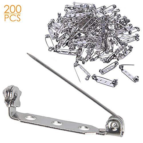 200 Pcs Silver Tone Brooch Pin B...