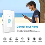 Smart Switch, Homeyard Smart Light Switch In-Wall WiFi Remote Control Wireless Single Pole Switch No Hub Required, Works with Alexa and Google Assistant (2 pack)