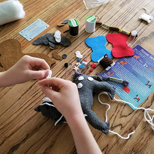 Wildflower Toys Horse Sewing Kit Kids - Felt Craft Kit Beginners ages 7+ - Makes 2 Felt Stuffed Horses by Wildflower Toys (Image #4)