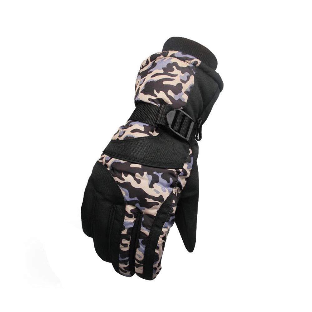 Dall Gloves Gloves Winter Warm Ski Glove Windproof Non-Slip Men Adjustable Size (Color : 006)