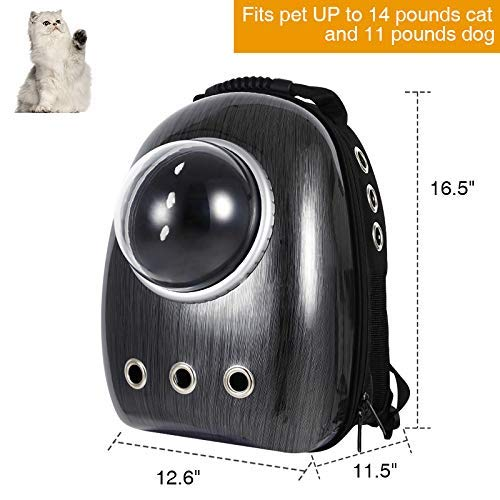 BLACK DOG Carrier Bag for Pets Cat Dog Puppy Carrier Travel Bag Space Capsule Astronaut Backpack Breathable and All Small Pets Travel Bag,Waterproof & Light Weight (Color May Vary)