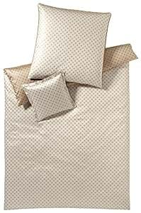 Elegante e2156littlesta rsmako de satén ropa de cama, marrón claro, 200x200 + 2x80x80