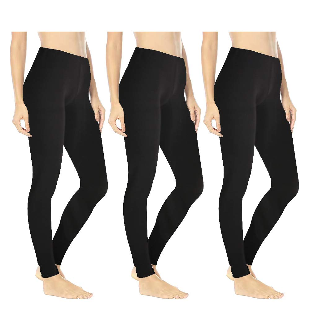 Women's Buttery Soft Printed Leggings – One/Plus High Waisted Fashion Pants 20+ Designs (Plus Size (US 12-24), 3 - Pack Black)