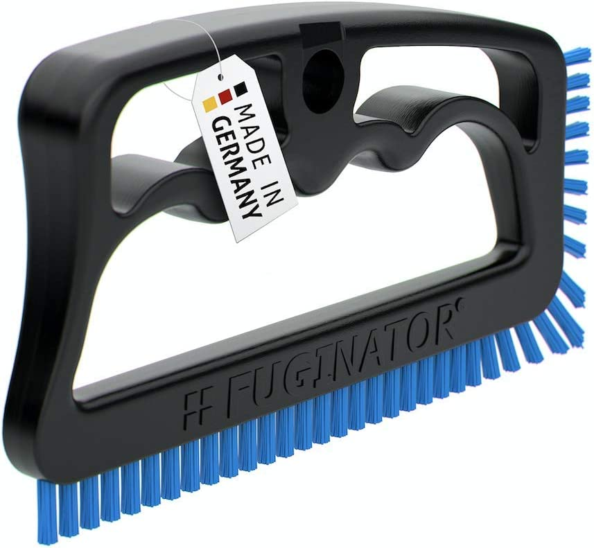 Fuginator Scrub Brush for Tile and Grout: Stiff Nylon Bristle Scrubbing Brush - Bathtub and Shower Scrubber for Floor Joints and Tile Seams - Cleaning Brushes and Supplies for Bathroom and Kitchen