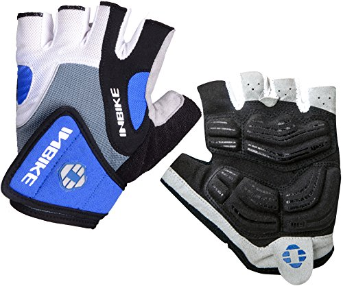 INBIKE Bike Gloves Men 5mm Gel Pad Shock-absorbing | Breathable | Anti-slip Mountain Bicycle Gloves Cycle Gloves Road Outdoor Sports Cycling Gloves