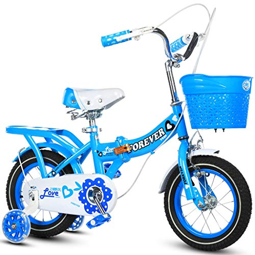 Fenfen-cz Bicicleta para niños Plegable, Bicicleta para niña ...