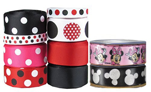 "HipGirl 46yd 7/8"" & 3/8"" Ribbon Collection--Minnie Mouse and Mickey Mouse"