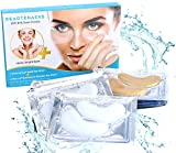 BeauteHacks Under Eye Treatment Kit l 24K Gold Eye Masks + Hyaluronic Acid & Collagen Anti-Aging Under Eye Patches to Reduce Dark Circles, Puffy Eyes, Eye Bags, Fine Lines & Wrinkles