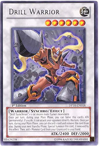 Amazon.com: Yu-Gi-Oh! - Drill Warrior (DP10-EN018) - Duelist ...