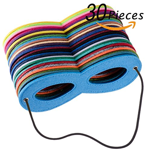 Super Heroes Mask (Superhero Masks Eye, Superhero Masks Cosplay Mask Half Masks Party Masks with Elastic Rope for Party, Multicolor(30pieces))