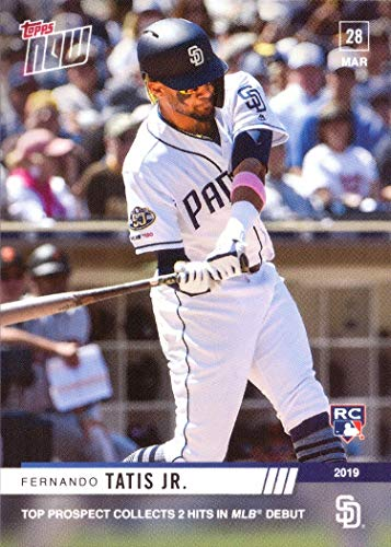2019 Topps Now Baseball #16 Fernando Tatis Jr. Rookie Card - 1st Official Rookie Card - Only 3,061 made!