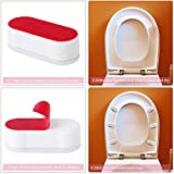 Onwon 4 Pieces Toilet Seat Bumpers with Strong