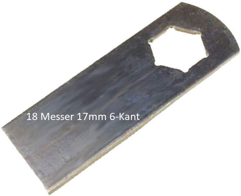 18 cuchillas de escarificación para escarificador Kynast 15-E405 35V-405 y MTD V40 V40G VE34 Vertiplus34 sustituye 00.1857.38 110.000.369