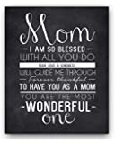 Mom Quote Chalkboard Wall Art Print, the perfect Mother's Day Gift or Gift for Mom