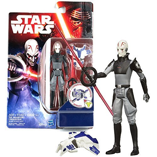 Star Wars Hasbro Year 2015 The Force Awakens Series 4 Inch Tall Action Figure - The Inquisitor (B4166) with Double Lightsaber Plus Build A Weapon Part #1]()