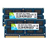 DUOMEIQI New 8GB Kit (2X 4GB) DDR3 2RX8 PC3-12800S 1600MHz 204pin 1.5v SO-DIMM Notebook Memory Laptop RAM Modules Compatible With Intel AMD and Mac System