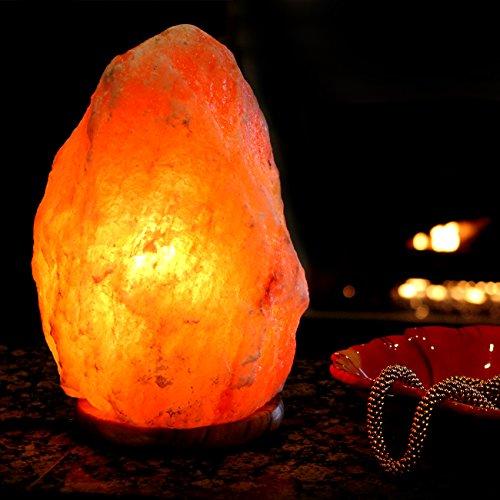 Natures artifacts himalayan crystal rock salt lamp 7 8 for Certified himalayan salt lamp