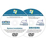 Windows Vista 32 & 64 bit Reinstall Install DVD Disc Starter Home Basic Business Ultimate - 2017 Driver DVD Included - 2 Disc Installation Kit