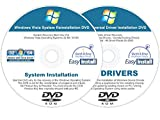 Image of Windows Vista 32 & 64 bit Reinstall Install DVD Disc Starter Home Basic Business Ultimate - 2017 Driver DVD Included - 2 Disc Installation Kit