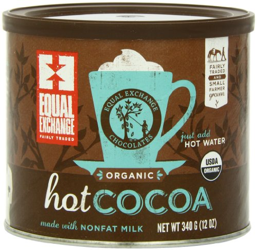 Chocolate Organic Hot Chocolate (Equal Exchange Organic Hot Cocoa Mix, 12-Ounce Tins (Pack of 3))