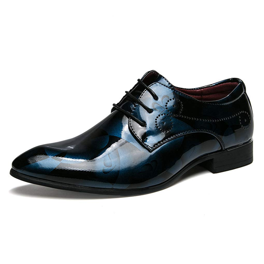Starttwin Men's Dress Shoes Camouflage Fashion Footwear Mixed Colors Flowers Oxford Shoes