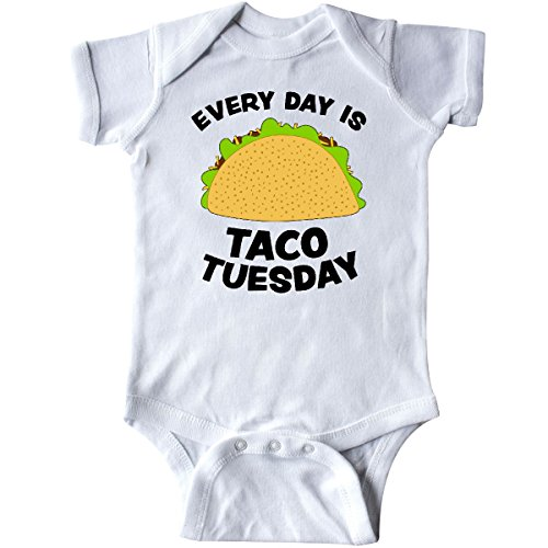 Food Onesie (inktastic - Every Day is Taco Tuesday Infant Creeper 6 Months White)
