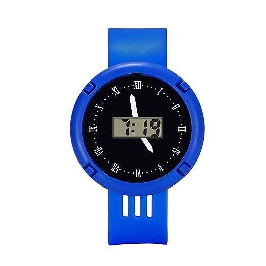 Loolik Niños Relojes,Moda Reloj Deportivo Digital Analógico Infantil LED a Prueba de Agua (Azul): Amazon.es: Relojes