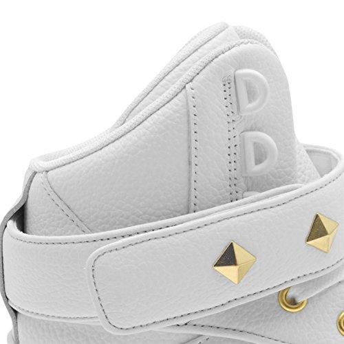 Firetrap Pour Sneakers Top Ii doré Baskets Bliss Chaussures Hit Femme Blanc BwFrqcB4Xx