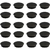 Emuca 3196317 - Lote de 20 pasacables circulares diámetro 60mm para encastrar en escritorio/mesa en plástico, color negro