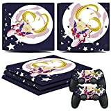 EBTY-Dreams Inc. - Sony Playstation 4 Pro (PS4 Pro) - Sailor Moon Anime Usagi Tsukino (Serena) Vinyl Skin Sticker Decal
